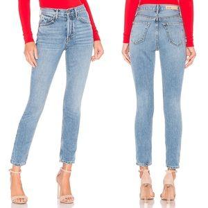 GRLFRND Karolina High Rise Skinny Crop Jeans